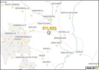 map of Ryland