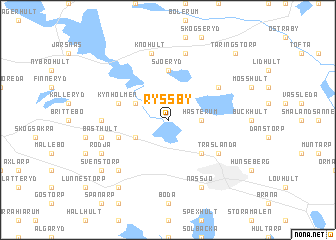 map of Ryssby