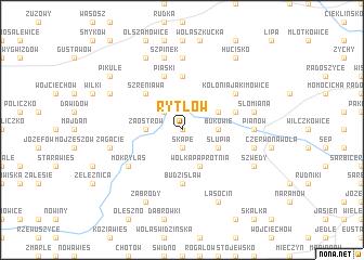 map of Rytlów