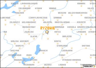 map of Ryzowie