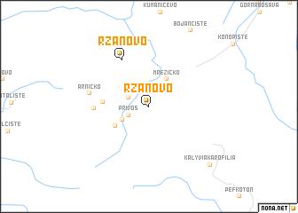 map of Ržanovo