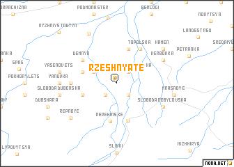 map of Rzeshnyate