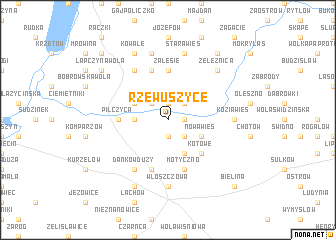 map of Rzewuszyce