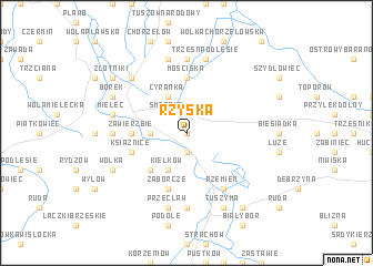 map of Rżyska