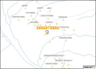 map of Sa'ādatābād