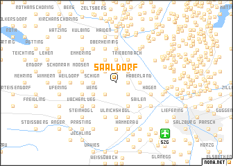 map of Saaldorf