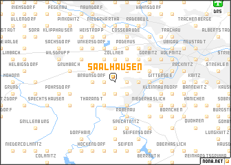 map of Saalhausen