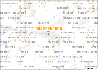 Saarbrcken Germany map  nonanet