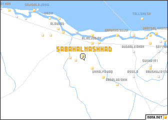 map of Şabāḩ Āl Mashhad