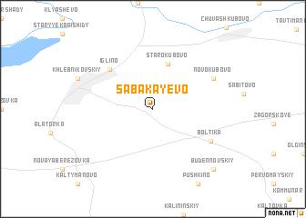 map of Sabakayevo
