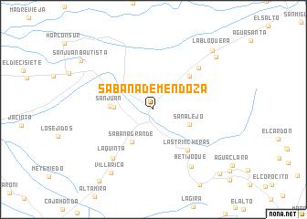 map of Sabana de Mendoza