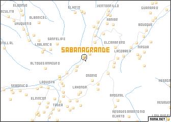 map of Sabana Grande
