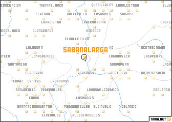 map of Sabana Larga