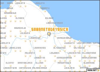 map of Sabaneta de Yásica