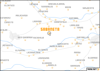 map of Sabaneta