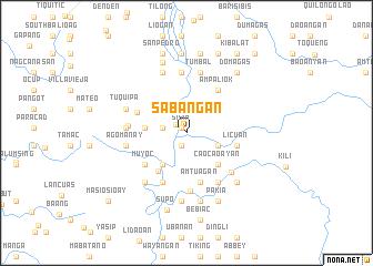 map of Sabañgan