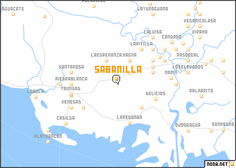 map of Sabanilla