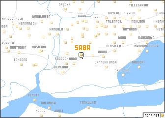 Saba Gambia The map nonanet