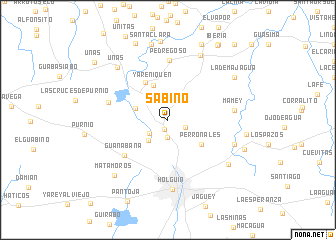 map of Sabino