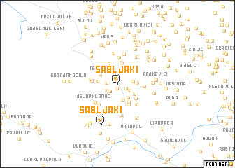 map of Sabljaki