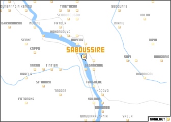map of Saboussiré
