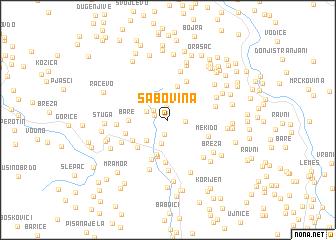 map of Šabovina