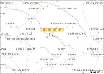map of Sabugueiro
