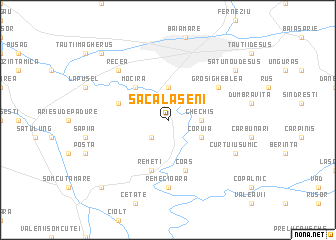 map of Săcălăşeni