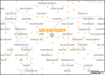 map of Sachsendorf
