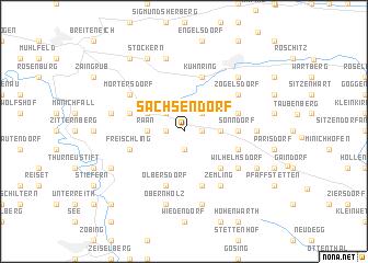 map of Sachsendorf