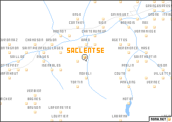 map of Saclentse