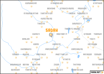 map of Sadaw