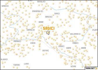 map of Šadići