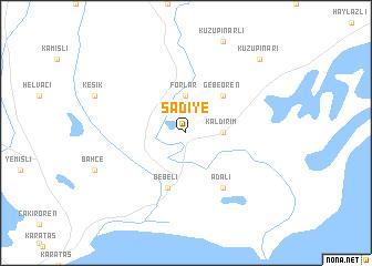 map of Sadiye