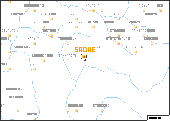 map of Sadwe