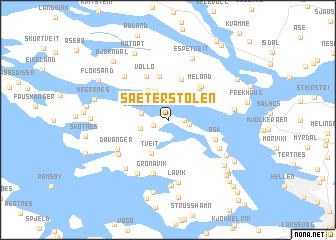 map of Sæterstølen
