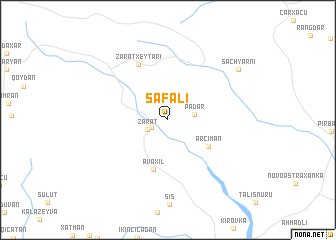 map of Sǝfalı