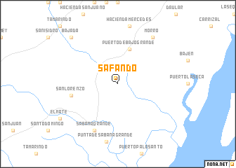 map of Safando