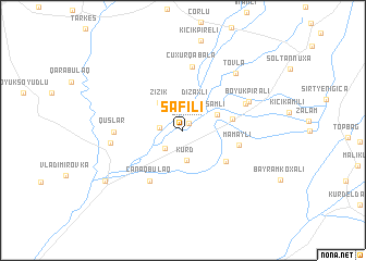 map of Şǝfili