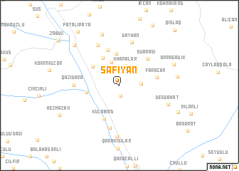 map of Sǝfiyan