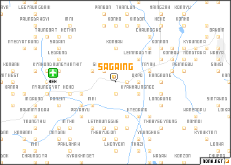 map of Sagaing