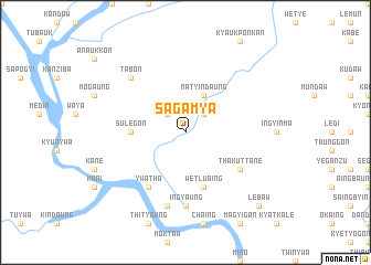 map of Sagamya