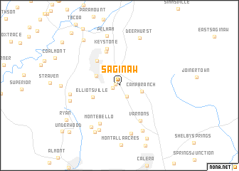 map of Saginaw