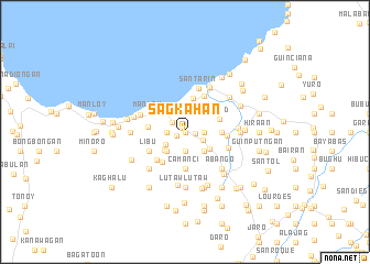map of Sagkahan