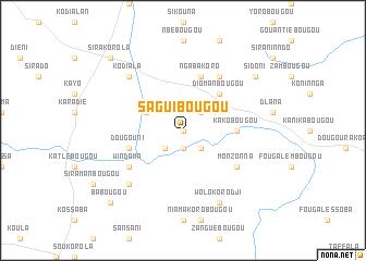 map of Saguibougou