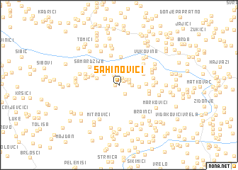 map of Sahinovići