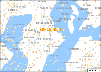 map of Sāhlewāla