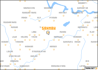 map of Sahmaw