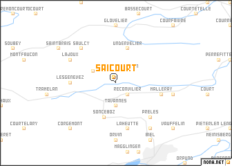 map of Saicourt