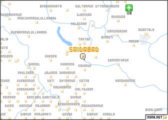 map of Sāidābād